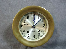 Vintage Chelsea Ships Bell Clock In Excellent Working Condition.
