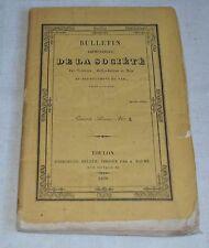BULLETIN TRIMESTRIEL DE LA SOCIETE DES SCIENCES BELLES LETTRES ET ARTS N°3 1838