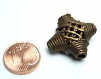 1 Stück Ashanti Ghana Messingperlen Akan brass beads lost wax process
