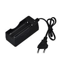 AC 110V 220V Cargador Doble Para 18650 3.7V Batería Recargable Pilas de Litio UE