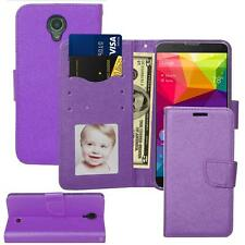 For BLU Neo XL (N110L) Leather Wallet Stand Flip Slot Case + Screen Protector