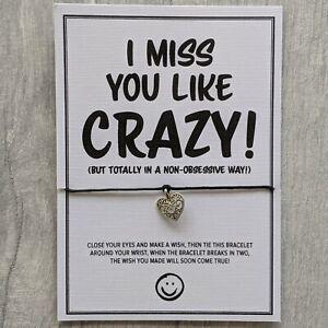 I / We Miss You Bracelet | Stay Safe Thoughtful | Family Friend | Isolation Gift