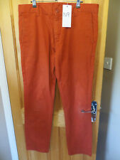 "mens rusty colour cotton trousers CARHARTT straight leg w34"" x l32"" used (n9)"