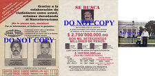 Narcos Drug Lord Medellin Cartel (2) Wanted Posters Reprints Pablo Escobar