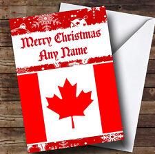 BANDIERA CANADESE / CANADA PERSONALIZZATA NATALE AUGURI CARD