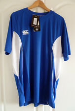 Canterbury of New Zealand Men's Speed Dry Training Tee Olympian Blue Size Small