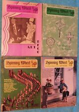Lot of 4 The Spinning Wheel Magazines from 1970, 1971, & 1973