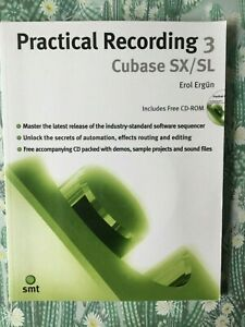 Practical Recording 3 Cubase SX/SL Erol Ergun + CD VGUC p/up or post