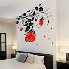 Large Flower Roses Wall Stickers Wall Decals Wall Graphics Vines Leafs Rose