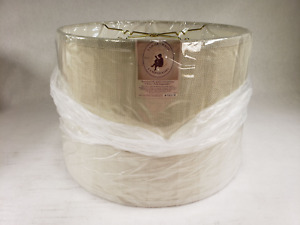 B & P Polished Brass Holder Ring And Quality Tradition Tailor Made Lamp Shade
