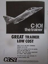 9/1980 PUB CASA C-101 TRAINER AIRCRAFT AVION FLUGZEUG ORIGINAL AD