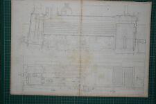 1855 LARGE LOCOMOTIVE PRINT ~ SHARP'S ENGINE SPHYNX LONGITUDINAL SECTION PLAN