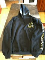 MENS Jean-Michel BASQUIAT Black/Yellow Licensed Hoodie Sweathsirt SZ M NWOT