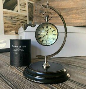 Royal Marines Commando Optical Glass Nautical Desk Timer Clock