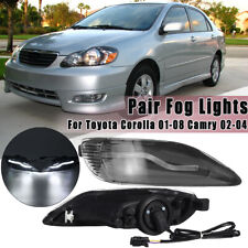 Pair Front LED Fog Light Lamp Assembly For Toyota Corolla 2001-08 Camry 2002-04