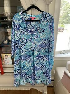 lilly pulitzer cover up dress size large like new