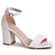Mujer Tiras Sandalias Zapatos de Tacón Alto Peep Toe Boda