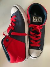CONVERSE All Star Junior Sz 6 Street Mid-Top Blue Navy/red  Canvas Sneakers  Run