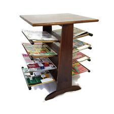 Vintage Mid Century Magazine Rack End Table Wood Spindles Doctors Office 8 Racks