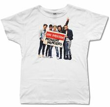 One Direction Midnight Memories Sign Girls Juniors White T Shirt New Official