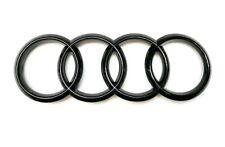 """Audi Emblem """"Ringe"""" schwarz glänzend Schriftzug Hinten"""