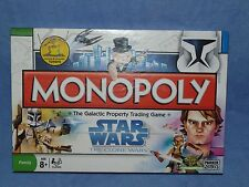 Monopoly-STAR WARS-THE CLONE WARS EDITION-PARKER/HASBRO 2008 100%