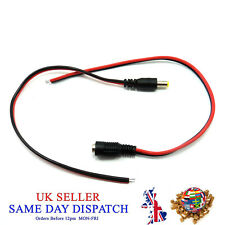 50x DC Power 2.1mm Female Socket Fly Lead Cable Jack Connector CCTV Camera