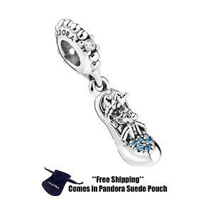 Authentic Pandora Silver Charm 799192C01 Disney Cinderella Glass Slipper & Mice