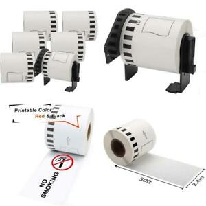 Markdomain Compatible Label Roll Replacement For Brother Dk-2251 Continuous Blac