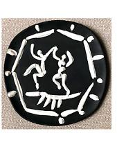 IMMACULATE CONDITION Picasso Ceramic Plaque, Madoura & Edition Picasso stamps