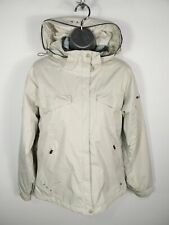 WOMENS COLUMBIA WHITE ZIP UP PADDED WATERPROOF HOODED SNOWSPORTS COAT M MEDIUM