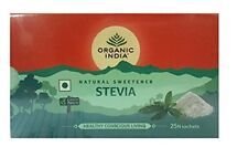 Organic India Stevia Natural Sweetner 25 Sachets Free Shipping