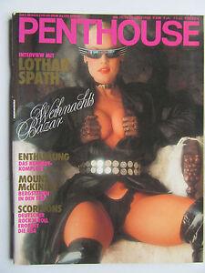 Penthouse (D) 12/1988, Lisa Davis, Delia Sheppard, Scorpions, Robert Mitchum