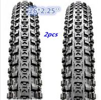 "2x (PAIR) Maxxis Crossmark MTB Tyres. 26 x 2.25"" Black Mountain Bike Tires 665g"
