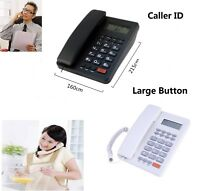 Loud Corded Phone Large Button Line Office Business Landline Fixed Telephone US