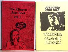 Vintage Star Trek Fanzine Booklet Set of 2-Trivia Guide Book & Klingon Joke Book