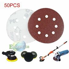 "50pcs 125mm 8 Hole 5"" Sanding Discs 40 60 80 120 240 Grit Orbital Sander Pad"