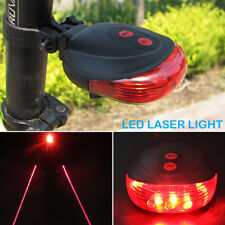 Solar Powered Bicycle Bike Rear Back Safety Light 3 Function Rot Lamp LED C9M2