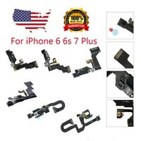 LOT Front Face Camera Proximity Light Sensor Flex Cable For iPhone 6 6S Plus 7