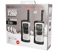 NEW Talkabout T260 Two-way Radios Walkie Talkie Set of 2 WHITE $59.99