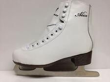 Alice Eislaufschlittschuhe Gr.40  Damen  Schlittschuh weiss Eiskunstlauf -Sale