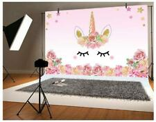 Laeacco 5x3ft Photography Background Unicorn Birthday Party Photo Backdrop