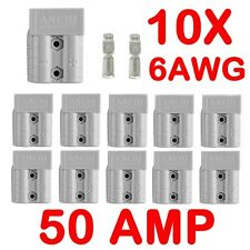 10 x Anderson Style Plug Connectors DC Power 50 AMP 12-24V 6AWG