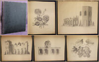 Skizzenbuch in Blei um 1850 Ansichten aus Dresden uw. Kunst Kultur Malerei sf