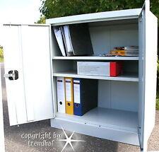 Büro Schrank Lager Aktenschrank 2-türig Metallschrank Werkzeug abschließbar NEU