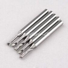 10x 1/8'' 2mm Carbide One Single Flute Spiral Bit Endmill CED 2.0mm CEL 8mm
