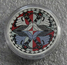 2012 CANADA SILVER DOLLAR TWO LOONS, 25 ANNIVERSARY COLOR LOON 1 OZ -.9999 pure