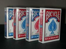 BICYCLE POKER STANDARD PLAYING CARDS 4 PACKS DECKS NEW FREE P&P
