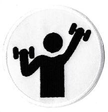 Écusson patche fitness musculation sport patch thermocollant brodé badge