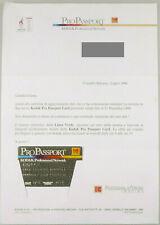 PRL) KODAK PRO PASSPORT RARA CARD ANNI 1990 FOTOGRAFIA PHOTOGRAPHIE PHOTO